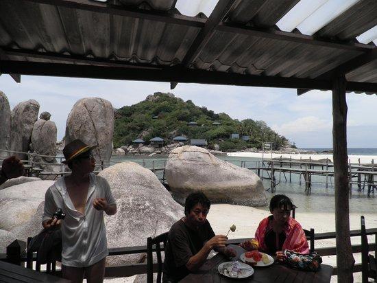 Nangyuan Island Dive Resort: vista dal ristorante