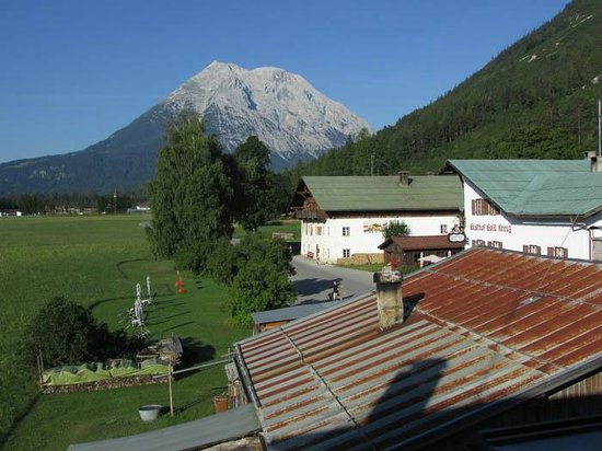 Pension Wetterstein: View from my single room looking southwest