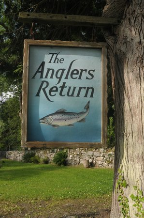The Anglers Return: The welcoming sign
