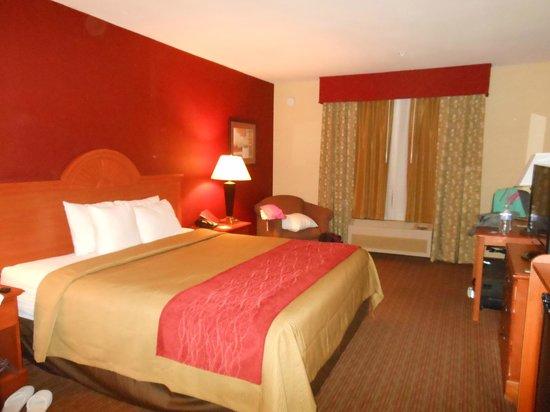 Comfort Inn: Kingsize bed