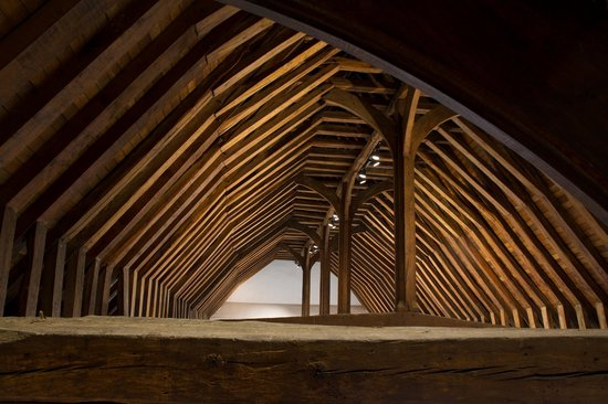 Prittlewell Priory: Vaulted ceiling at Priory