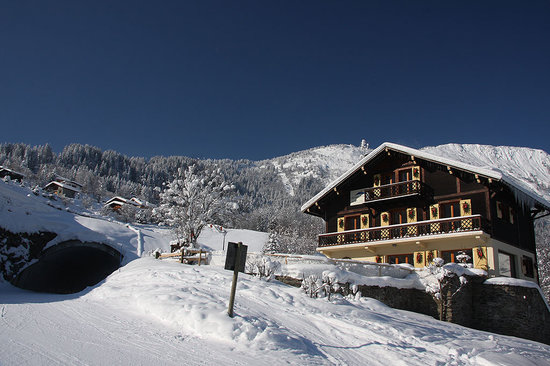 Maison Jaune Ski Chalet: You can't get closer to the piste! Ski in, ski out!