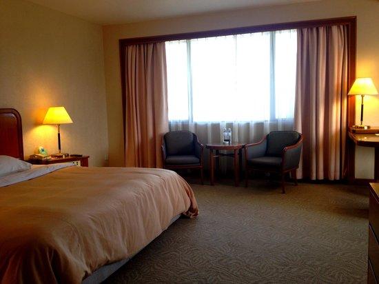 Sabah Hotel Sandakan: Room. Too dark but spacious