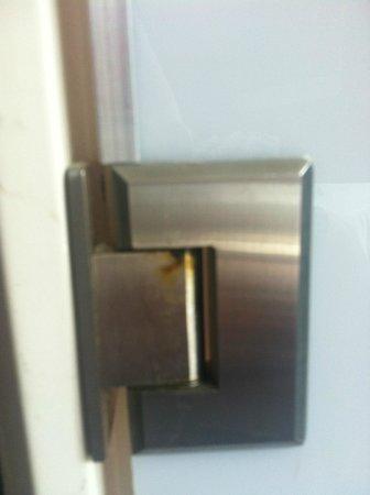 Canalview Hotel Ter Reien: Dirty hinges on bathroom swing doors