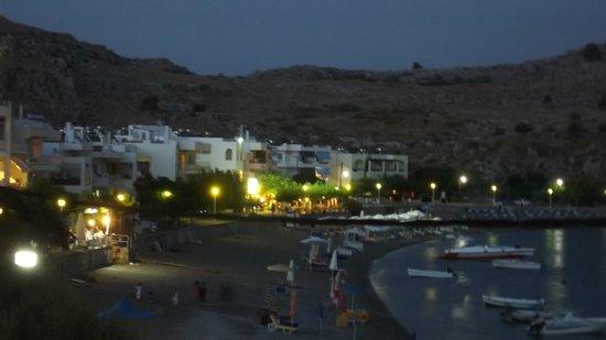 Porto Haraki Studios: Night view from our room