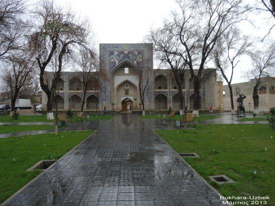 Kukeltash Madrasah: Bukhara, Kukeldash Madrasah on a rainy day