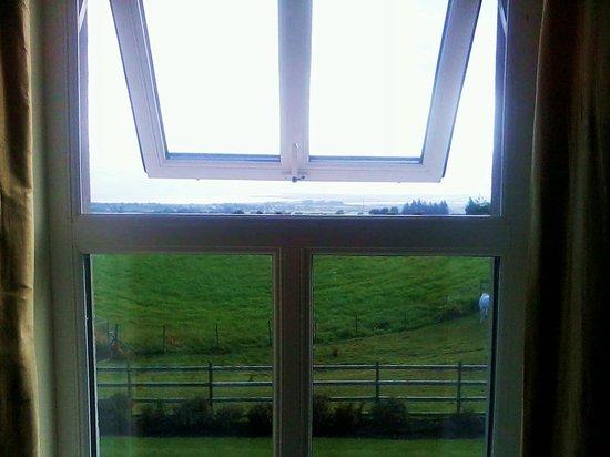Keeragh Lodge Bed & Breakfast: I prati dalla finestra della camera