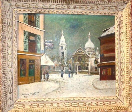 Musée Carnavalet : St Pierre de Montmartre par M. Utrillo