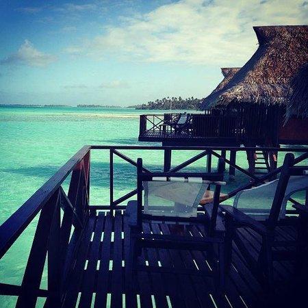 Vahine Island - Private Island Resort: Vue depuis notre bungalow sur pilotis