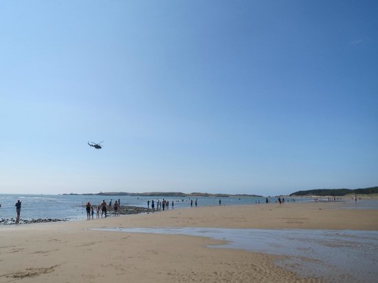 Newborough Beach: View of the coastal line