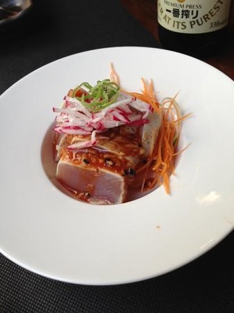 Kyoto Galicia (Vigo): bonito  braseado con salsa kimuchi