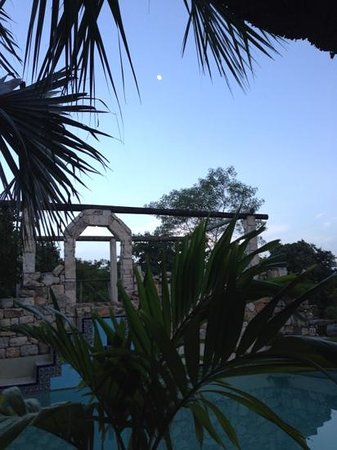 Hacienda Hotel Santo Domingo: the pool & the moon