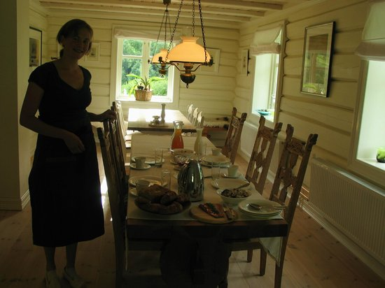 Froys Hus: Our hostess Liv, preparing for a meal