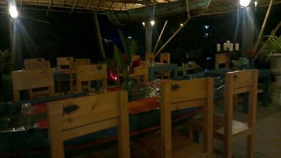 Fish at Thip's: terrace
