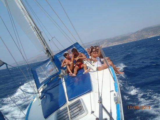 Naxos Town, Greece: sailing