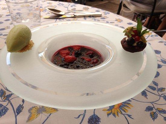 Auberge du Bois Prin: la soupe de fruit