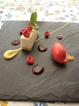 Auberge du Bois Prin: le dessert, excellent, un vrai goût de citron