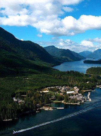 Sonora Island, Kanada: View from above