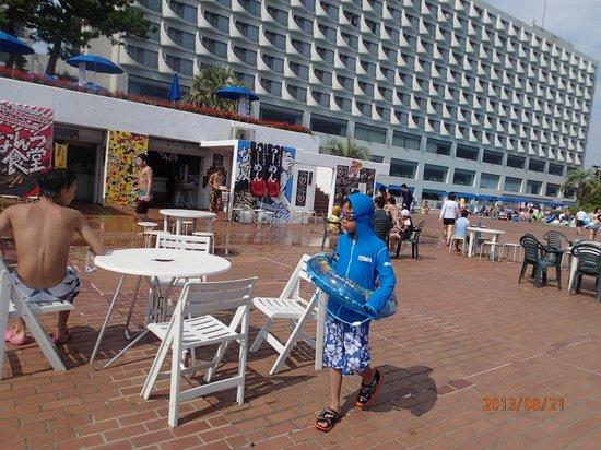 Oiso Prince Hotel: プールから見たホテル