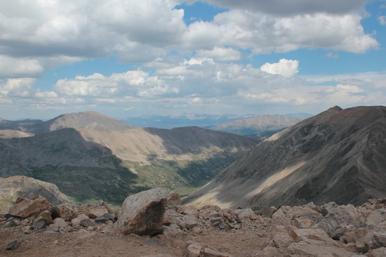 Alma, CO: view from atop Mt. Democrat