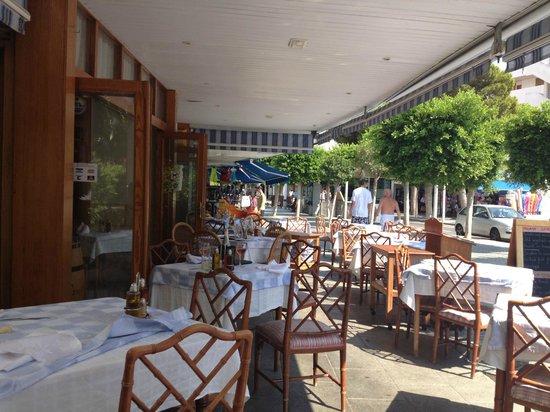 Restaurante Xaloc: Терраса