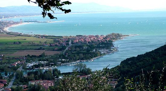 Villa I Poggioli: Vista aerea Bocca di Magtra