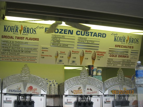 Kohr Bros : menu with prices