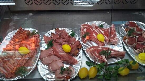 Almeirim, โปรตุเกส: montra de carnes
