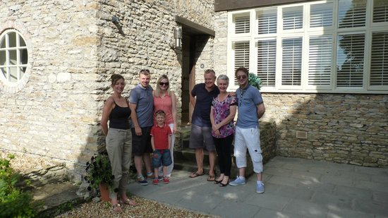 Old Parsonage House : Our family with hosts Tim and Jo