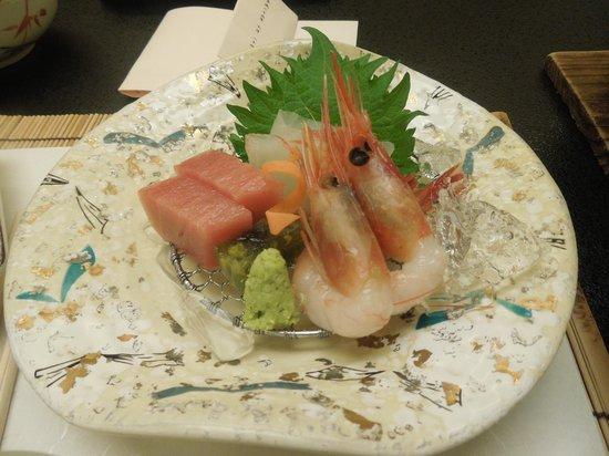 Amanohashidate Hotel : 夕食のお刺身