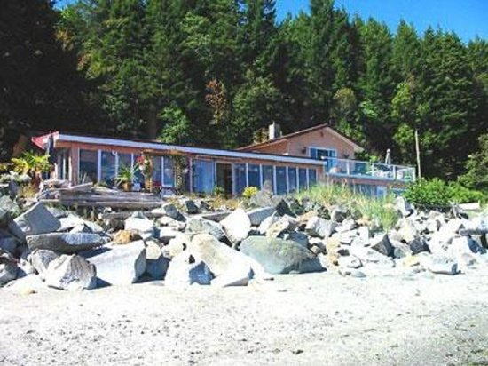Copes' Islander Oceanfront B&B : View of property from beach