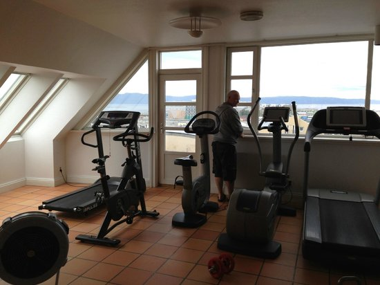 Clarion Collection Hotel Bakeriet: Gym högst upp i hotellet