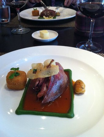 Castle Terrace Restaurant: New season grouse 2012 style. Delicious.