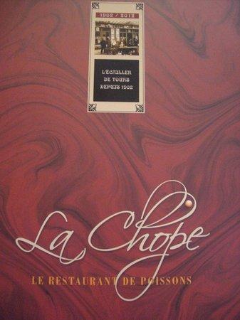la chope : menu