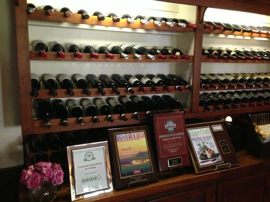 Captain Linnell House: Wines - great selection!