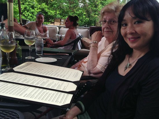 Queequeg's : My family perusing options over sips of wine sips