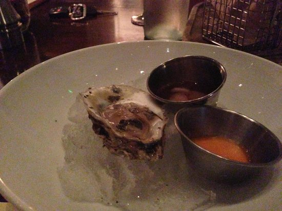 B&O American Brasserie: Oysters with Tabasco Sorbet