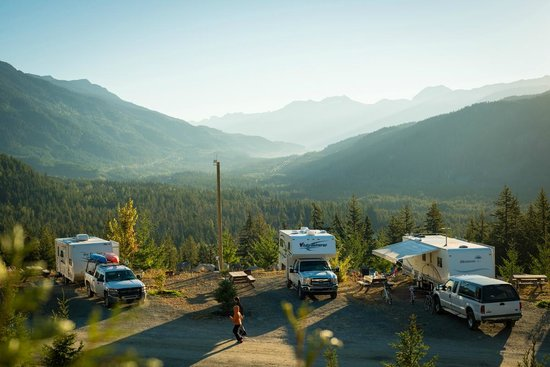 Whistler RV Park & Campgrounds: RV sites with valley view