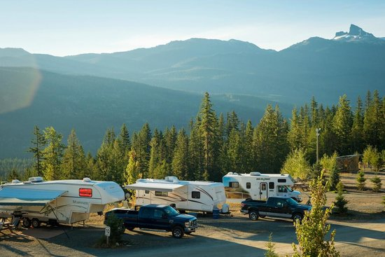 Whistler RV Park & Campgrounds: RV sites with Black Tusk