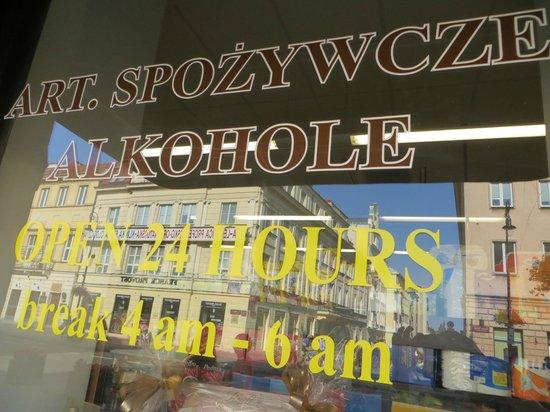 Krakowskie Przedmiescie: 24hr Liquor Store