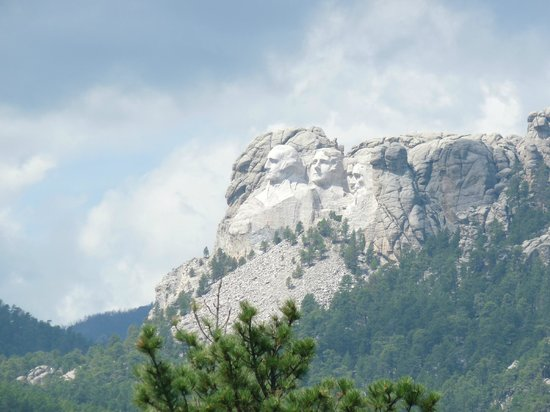 Rushmore Tramway Adventures : Mt. Rushmore from the hilltop patio.