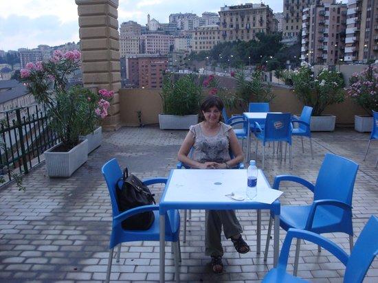 Hotel Bellevue: terrasse de l'hôtel Bellevue