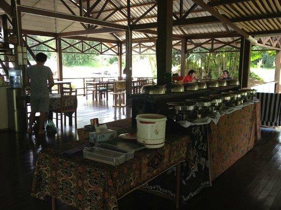 Borneo Rapid Outdoor Adventurers: Buffet Table