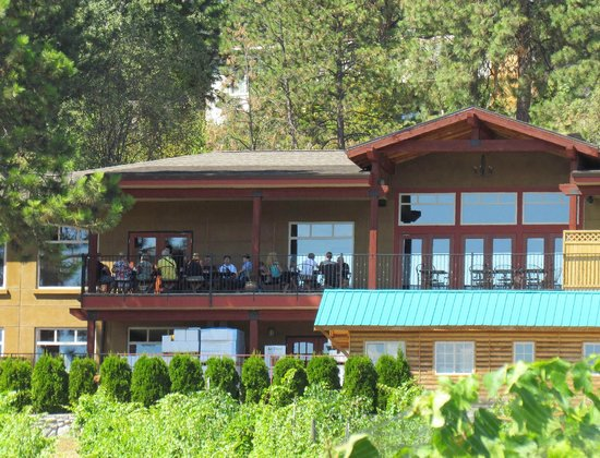 Little Straw Vineyards: View of the winery balcony