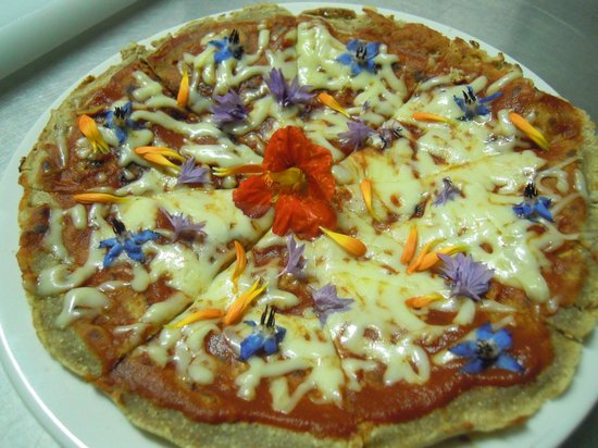 Yoshi's Healthy Food: Edible Flower Pizza