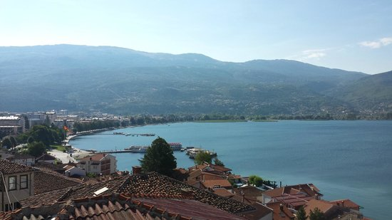 Balcony View from Apartment 2, Villa Rustica, Ohrid, Macedonia