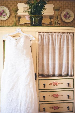 Alconbury Guesthouse: My wedding dress hung out in the Balcony Suite