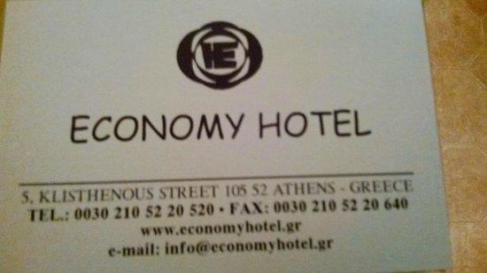 Economy Hotel: Carte