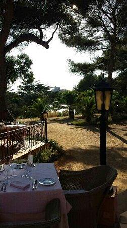 Mas du Langoustier : terrasse