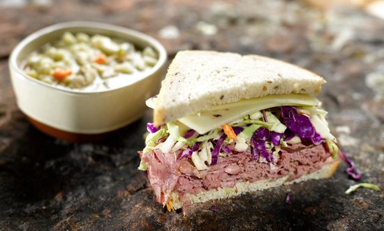 Backcountry Delicatessen: Pair half of a specialty sandwich with a cup of our house-made soup.